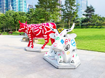 September 29, 2014 Shanghai. Sculpture in the park royalty free stock image