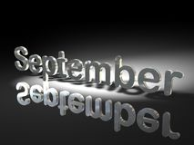 September in silver Royalty Free Stock Photos