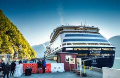 Sept. 15, 2018 - Skagway, AK: Passengers at security enroute to cruise ships. royalty free stock images