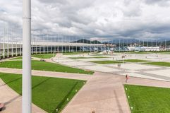 Olympic facilities buildings in olympic park in Sochi, Russia. 1 SEPTEMBER 2017 SOCHI, RUSSIA: Olympic facilities buildings in olympic park in Sochi, Russia Royalty Free Stock Images