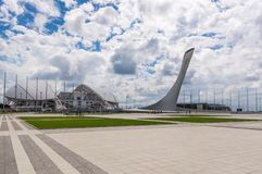 Olympic facilities buildings in olympic park in Sochi, Russia. 1 SEPTEMBER 2017 SOCHI, RUSSIA: Olympic facilities buildings in olympic park in Sochi, Russia Stock Photography