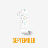 September 1st. Back To School background. Poster, greeting card or brochure. Vector illustration Stock Image