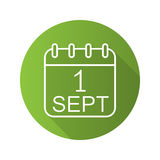 September 1st calendar green icon Stock Photo