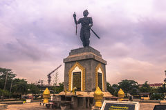 25 september, 2014: Standbeeld van Chao Fa Ngum, Vientiane, Laos Stock Foto