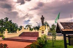 20 september, 2014: Standbeeld van voorzitter Souphanouvong in Luang P Stock Foto's