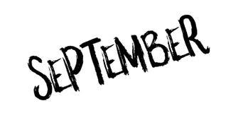 September-Stempel Lizenzfreie Stockfotos