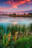 A September Sunrise. Sunrise paints the sky in eastern Colorado on a beautiful September morning Royalty Free Stock Photos