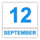 12. September Tag auf dem Kalender stock abbildung