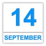 14. September Tag auf dem Kalender Lizenzfreie Stockbilder