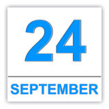 24. September Tag auf dem Kalender Stockfoto