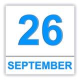 26. September Tag auf dem Kalender lizenzfreie abbildung
