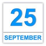 25. September Tag auf dem Kalender lizenzfreie abbildung
