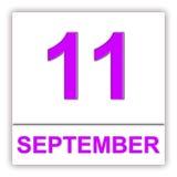 11. September Tag auf dem Kalender Stockbild