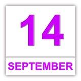 14. September Tag auf dem Kalender Stockbilder