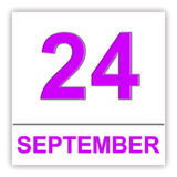 24. September Tag auf dem Kalender Lizenzfreie Stockfotos