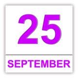 25. September Tag auf dem Kalender stock abbildung
