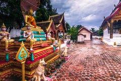 21. September 2014: Tempel im Verbot Xang Hai, Laos Lizenzfreies Stockfoto