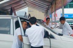 Shenzhen, China: auto show sales landscape, new energy vehicle exhibition Royalty Free Stock Photo