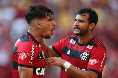 SOCCER MATCH BRAZIL FLAMENGO royalty free stock image
