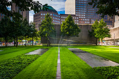 The September 11th Memorial Grounds in Lower Manhattan, New York Royalty Free Stock Images