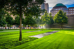 The September 11th Memorial Grounds in Lower Manhattan, New York Royalty Free Stock Photography