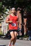 September 20th, 2015 - Montreal, Canada. Marathon de Montreal at the streets and the finish closeup Stock Photo