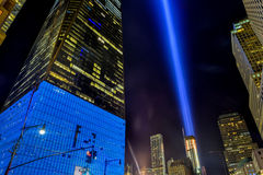 September 11th Tribute in light - New York City. Stock Photography