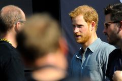 Prince Harry during Invictus Games. September 27, 2017, Toronto, Canada - His Royal Highness Prince Harry meeting with competitors during Invictus Games in Stock Image