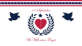 11 september USA, We will never forget Royalty Free Stock Photography