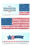 Memorial day banner. Remember and honor. Vector llustration for American holiday. Design template for poster, banner. 11 September. Vector llustration for Royalty Free Illustration