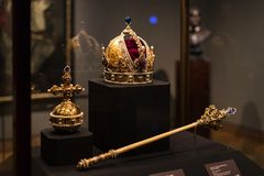 Treasury of the Habsburg dynasty Museum Hofburg palace in Vienna Austria. royalty free stock image