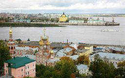 September view of colorful autumn Nizhny Novgorod Royalty Free Stock Photos