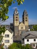 View to Herz-Jesu Church, Church of the Sacred Heart of Jesus in Mayen, Germany. September view to Herz-Jesu Church or Church of the Sacred Heart of Jesus in stock image