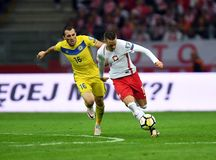 World Cup Rusia 2018 qualification match Poland - Kazakhstan Royalty Free Stock Photography