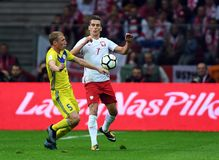 World Cup Rusia 2018 qualification match Poland - Kazakhstan Royalty Free Stock Photo