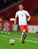 World Cup Rusia 2018 qualification match Poland - Kazakhstan. 4 SEPTEMBER, 2017 - WARSAW, POLAND: Football World Cup Rusia 2018 qualification match Poland Royalty Free Stock Photos
