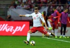 World Cup Rusia 2018 qualification match Poland - Kazakhstan. 4 SEPTEMBER, 2017 - WARSAW, POLAND: Football World Cup Rusia 2018 qualification match Poland Royalty Free Stock Images