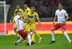 World Cup Rusia 2018 qualification match Poland - Kazakhstan Royalty Free Stock Images