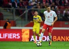 World Cup Rusia 2018 qualification match Poland - Kazakhstan. 4 SEPTEMBER, 2017 - WARSAW, POLAND: Football World Cup Rusia 2018 qualification match Poland Stock Photos