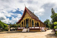20 september, 2014: Wat Manorom-tempel in Luang Prabang, Laos Stock Foto