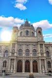 September2017, WIEDEŃ, AUSTRIA: Panoramiczny widok muzeum sztuki piękna historia w Wiedeń, Austria Obraz Stock