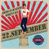 22.september, women's day, eps10. American business women's day, vector Stock Photos