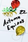 22 septembre équinoxe d'automne Photographie stock