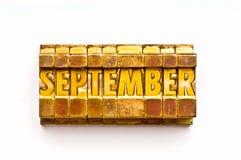 Septembre Photos stock