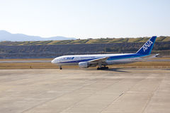 29 septembre Avion 2015 d'All Nippon Airways (ANA) Image stock