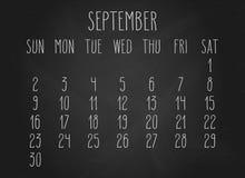 Septembre 2018 calendrier illustration de vecteur