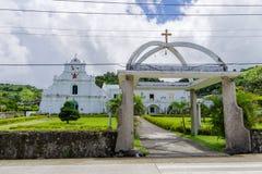 22 septembre 2017 en dehors de San Jose Borromeo Church, Batanes Photographie stock libre de droits