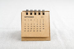 septembre Feuille de calendrier Image stock