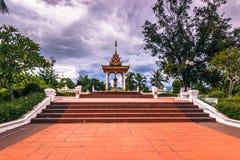 20 septembre 2014 : Jardins de Luang Prabang, Laos Images libres de droits
