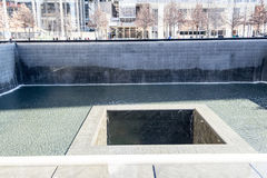 11 septembre mémorial à Manhattan inférieure, NYC Photos stock